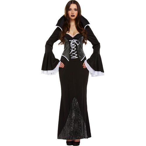 Web Vampiress Halloween Gothic Fancy DressCostume Size 12-14
