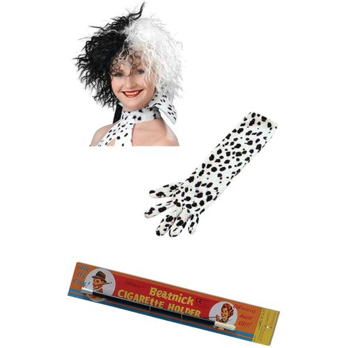 Cruella 101 Dalmatians Fancy Dress Costume Accessory Kit