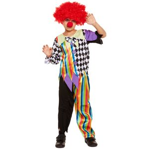 Childs Halloween Clown Costume Age 4-6 Years