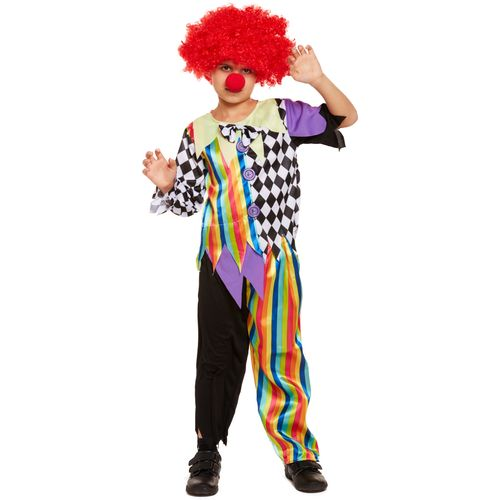 Childs Halloween Clown Fancy Dress Costume Age 4-6 Years