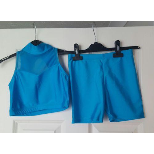 Jenetex Dance Hot Pants & Top Set (Turquoise)