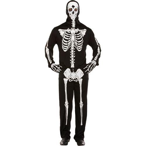 Skeleton All in One Halloween Fancy Dress Costume Size M-L