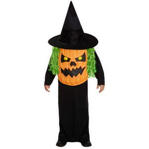 Childs Pumpkin Jumbo Face Costume Age 10-12 Years