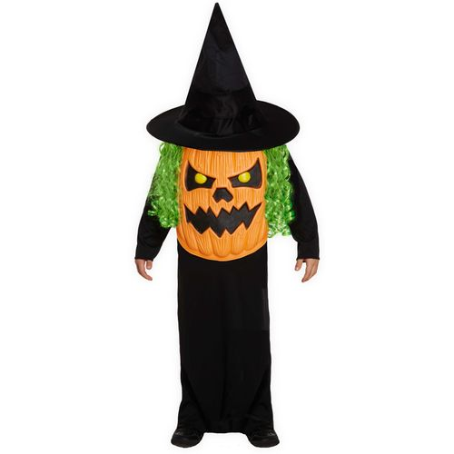 Childs Pumpkin Jumbo Face Halloween Fancy Dress Costume Age 10-12 Years
