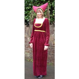 Deep Red Medieval Lady Ex Hire Sale Costume