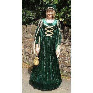 Green Tudor Lady Ex Hire Sale Costume