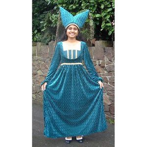 Turquoise Tudor Lady Ex Hire Sale Costume