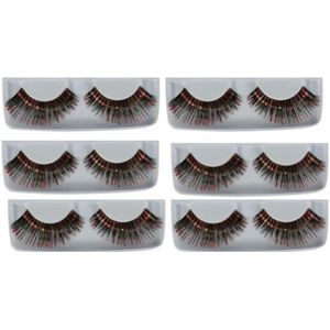 False Eye Lashes (Black & Red) 6 Pack