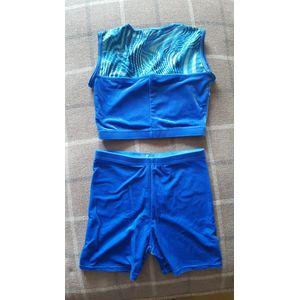 Blue crop top & hot pants set - size 3A