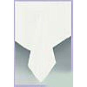 Disposable Table Covers 2 Pack (White) 90cm x 90cm