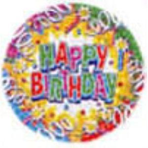 Birthday Explosion Paper Plates 18 cm x 8