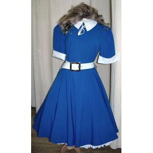 Blue Rock & Roll Teddy Girl Dress Ex Hire Size 12-14
