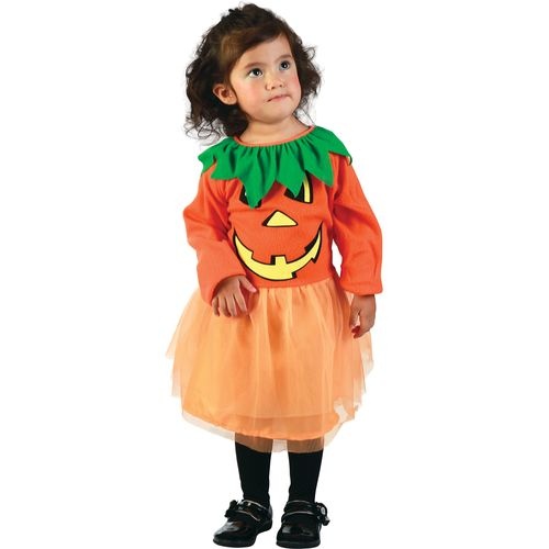 Childs Pumpkin Girl  Halloween Fancy Dress Costume Toddler Age 2-3 Years