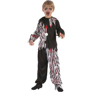Childs Harlequin Bloody Clown Costume Age 5-7 Years