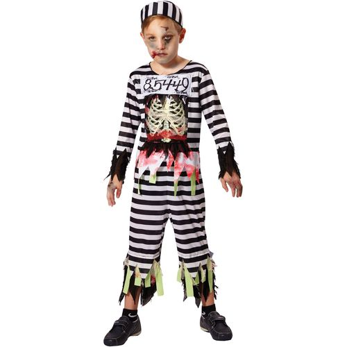 Childs Skeleton Prisoner Halloween Fancy Dress Costume Age 5-7 Years