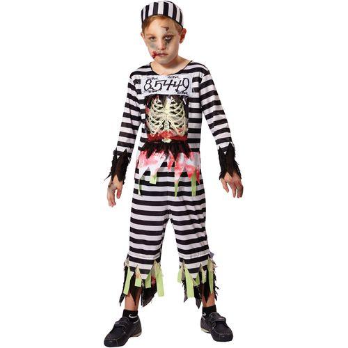 Childs Skeleton Prisoner Halloween Fancy Dress Costume Age 7-9 Years