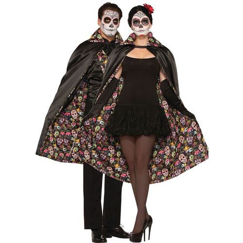 Day Of The Dead Unisex Cape Halloween Fancy Dress Costume Accessory