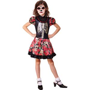 Childs Day of the Dead Girl Costume Age 7-9 Years