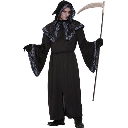 Spirits & Soul Robe Halloween Grim Reaper Fancy Dress Costume Size M-L