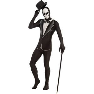 Skeleton Tuxedo Disappearing Man Skin Suit Size M-L