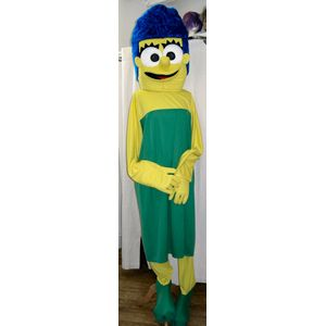 Marg Simpson Mascot Ex Hire Sale Costume Free Size