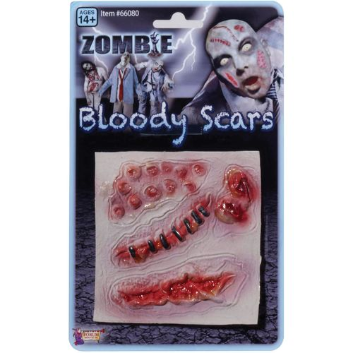 Zombie Bloody Scars Halloween Fancy Dress Costume Accessory