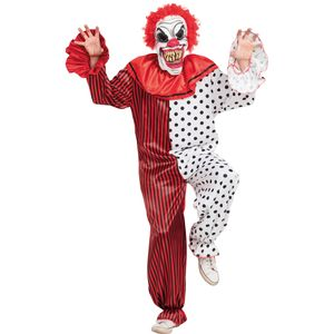Horror Clown Costume & Mask Size M-L