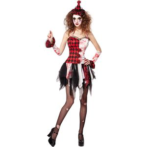 Scary Lady Jester Costume Size 10-14