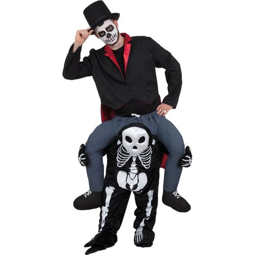 Skeleton Piggyback Halloween Ride On Fancy Dress Costume
