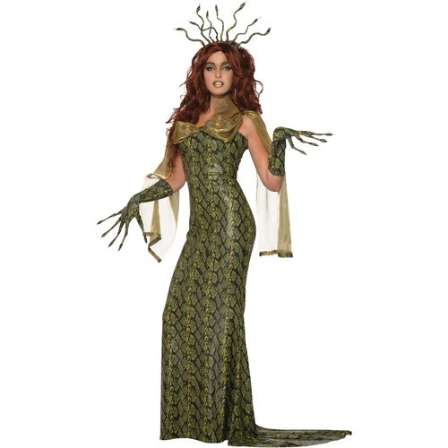 Deluxe Medusa Halloween Fancy Dress Costume Size 10-14
