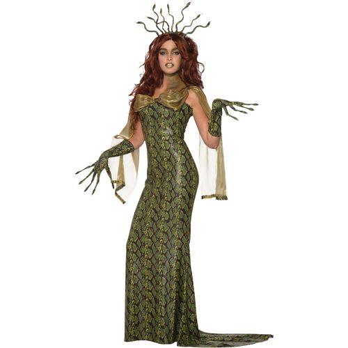 Deluxe Medusa Halloween Fancy Dress Costume Size 10-14