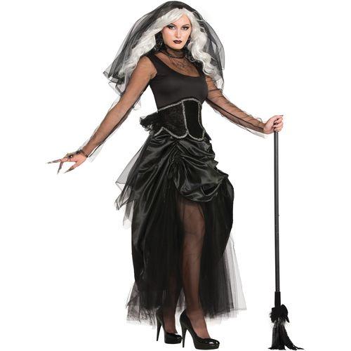 Shadow Ghost Lady Halloween Fancy Dress Costume Size 10-14