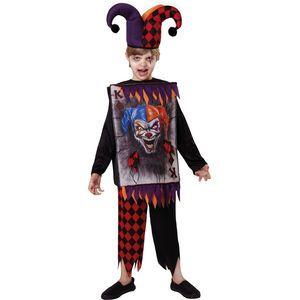 Childs Jester Tabard & Hat Costume Age 7-9 Years