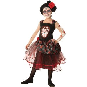 Childs Rose Senorita Day of the Dead Costume 5-7 Years