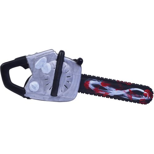 Small Plastic Chainsaw with Fake Blood Stains Halloween Fancy Dress Costume Accessory
