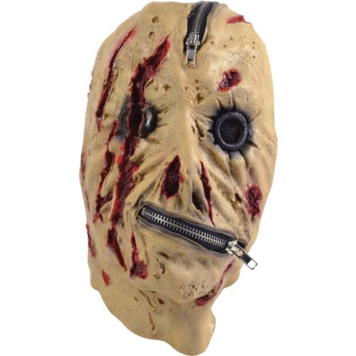 Dead Zipper Full Face Mask Halloween Fancy Dress Costume Accessory