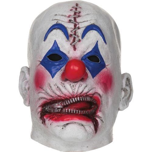 Zipper Mouth Clown Mask Halloween Fancy Dress Costume Accessory