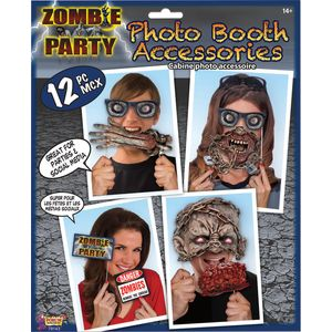 Zombie Party Photo Booth Selfie Props Accessory Pack
