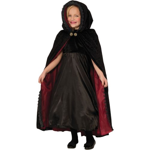 Childs Gothic Vampiress Cape Fancy Dress Costume Accessory