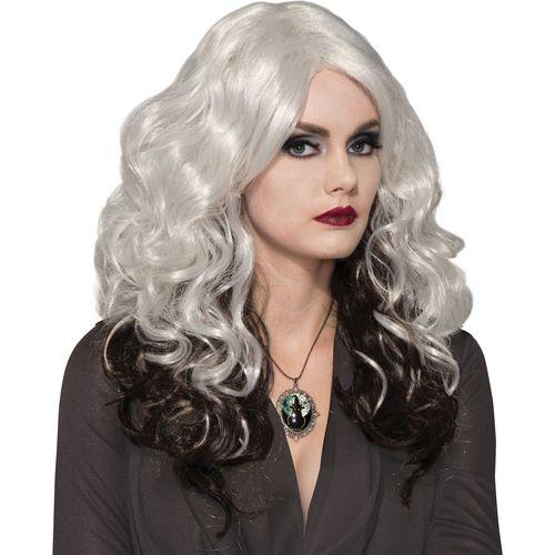 Silver Spell Caster Halloween Fancy Dress Wig