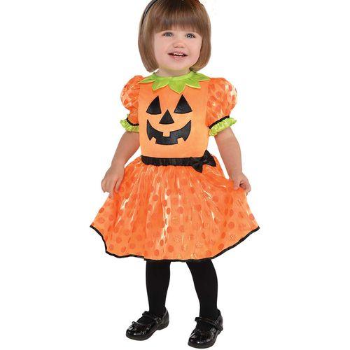 Baby Pumpkin Halloween Fancy Dress Costume Toddler Age 6-12 Months