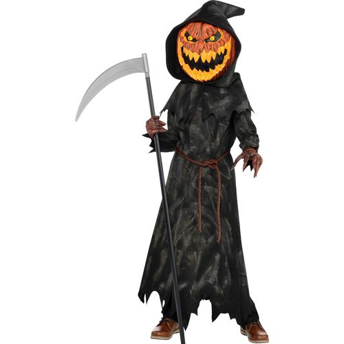 Jack O Pumpkin Head Teen Halloween Fancy Dress Costume Age 12-14