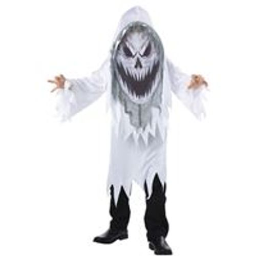 Childs Screaming Ghost Mad Creeper Halloween Fancy Dress Costume Age 7-9