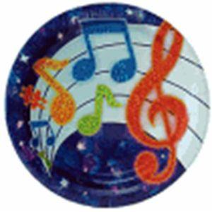 Party Tunes Paper Plates 23cm x 8