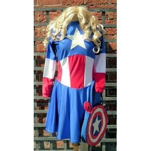 Miss American Superhero Ex Hire Costume Size S-M