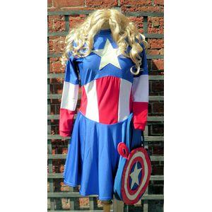 Miss American Superhero Ex Hire Costume Size S-M