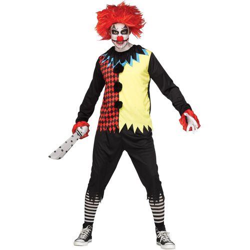 Freakshow Clown Halloween Fancy Dress Costume One Size Fits Most
