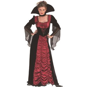 Taffeta Coffin Vampiress Costume Size 10-12