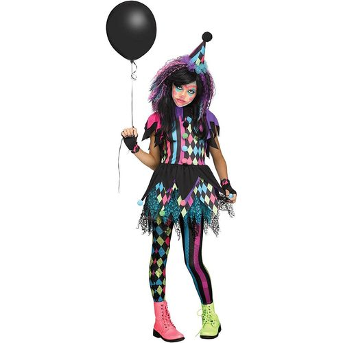 Childs Twisted Circus Halloween Fancy Dress Costume Age 8-10 Years