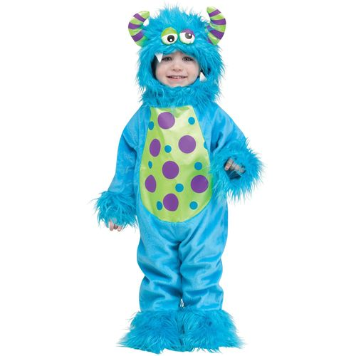 Childs Little Blue Monster Halloween Fancy Dress Costume Toddler Age up to 24 Months